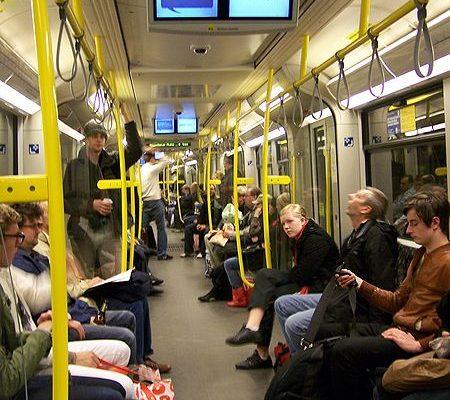 Volle U-Bahn