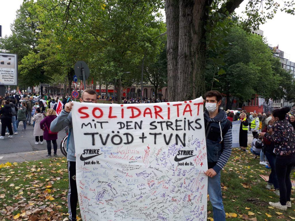 Solidarität mit den Streiks TVÖD + TVN