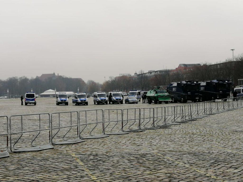 Starke Polizeipräsenz auf der Bremer Bürgerweide
