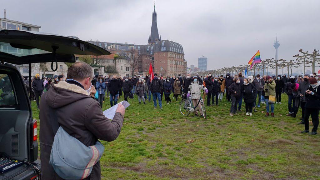 Demonstration in Düsseldorf