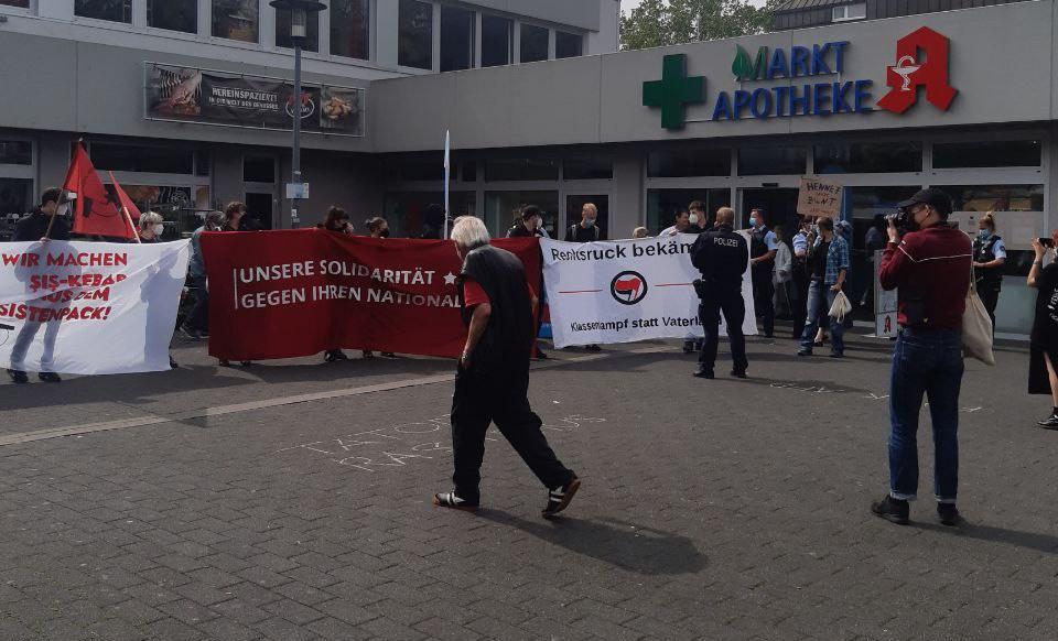 Protest gegen die AfD in Hennef